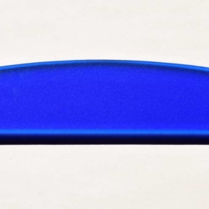 Acryl - Wechselfeilenboard blau 3mm Halbmond