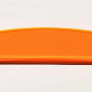 Acryl - Wechselfeilenboard orange fluoreszierend 3mm Halbmond