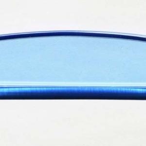 Acryl - Wechselfeilenboard blau fluoreszierend 3mm Halbmond
