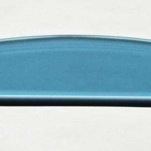 Acryl - Wechselfeilenboard türkis 3mm Halbmond