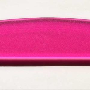 Acryl - Wechselfeilenboard pink 3mm Halbmond