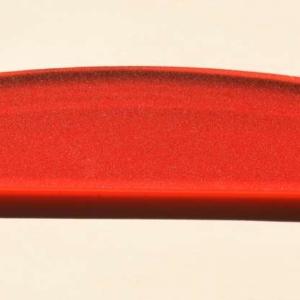 Acryl - Wechselfeilenboard rot fluoreszierend 3mm Halbmond