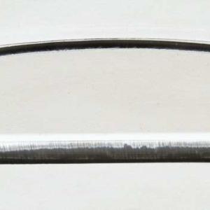 Acryl - Wechselfeilenboard klar 2mm Halbmond