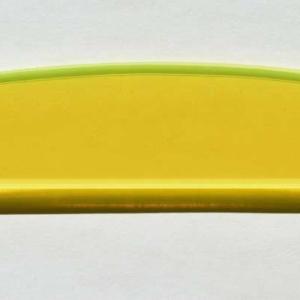 Acryl - Wechselfeilenboard gelb fluoreszierend 3mm Halbmond