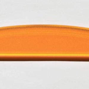 Acryl - Wechselfeilenboard orange 3mm Halbmond