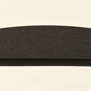 Acryl - Wechselfeilenboard schwarz matt 3mm Halbmond