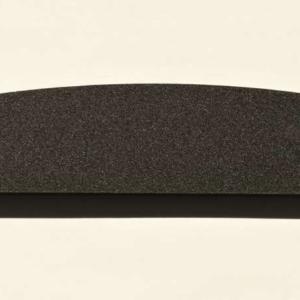 Acryl - Wechselfeilenboard schwarz matt 2mm Halbmond