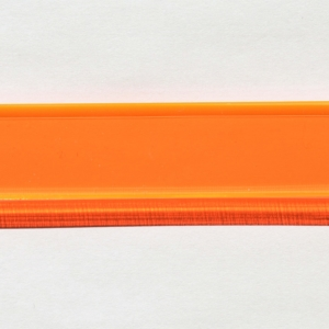 Acryl - Wechselfeilenboard orange fluoreszierend 3mm gerade