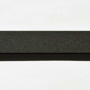 Acryl - Wechselfeilenboard schwarz matt 2mm gerade