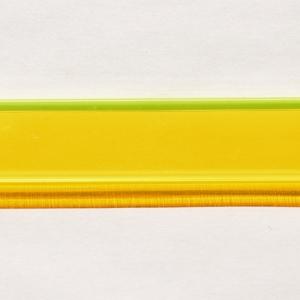 Acryl - Wechselfeilenboard gelb fluoreszierend 3mm gerade